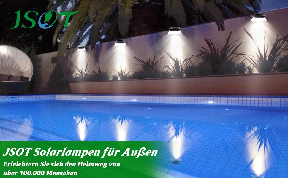 3 Modi Superhelle Solarleuchte f/ür Garten,Balkon,Deck Solarleuchten f/ür Au/ßen mit Bewegungsmelder 270/°Beleuchtungswinkel 1 St/ück 109 LED Solarlampen f/ür au/ßen Hof