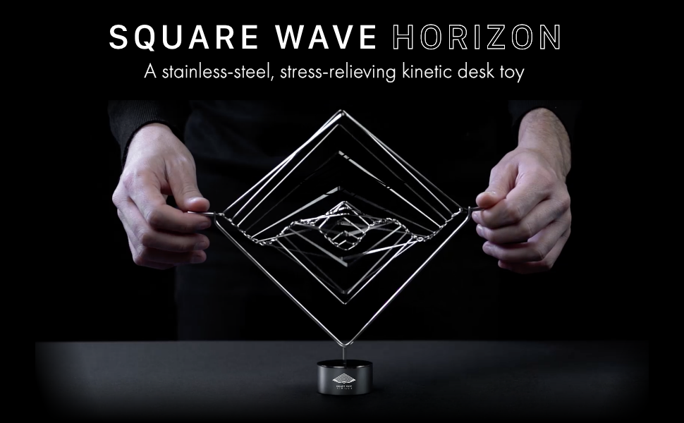 Square Wave by Ivan Black Kinetic Wind Spinner Calming Mesmerizing Satisfying Art Piece