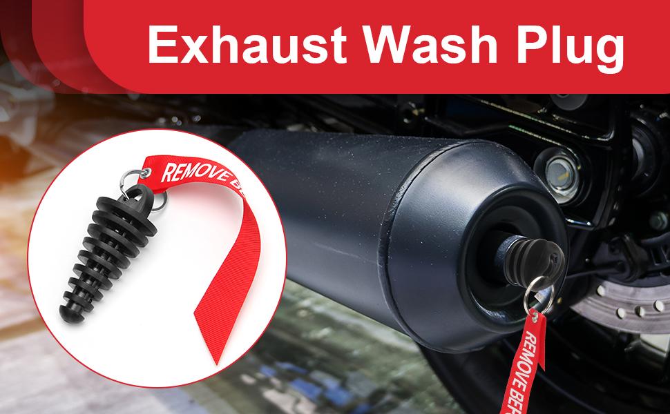 exhaust wash plug