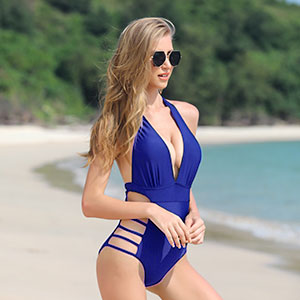 halter one piece swimsuit for women