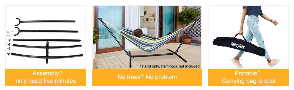 2 person hammock stand