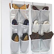 2 Pack Shoe Organizer, Grey