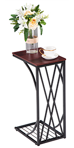 Sofa Side Table Coffee End Tables for Living Room, C-Type Table