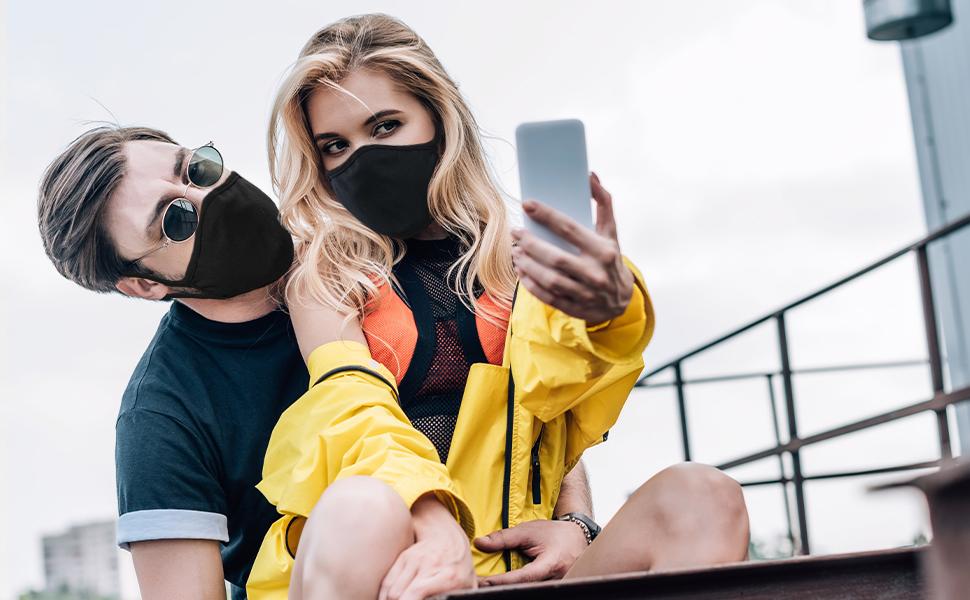 Masque en Tissu Masque Réutilisable, Facial, Anti-Poussière