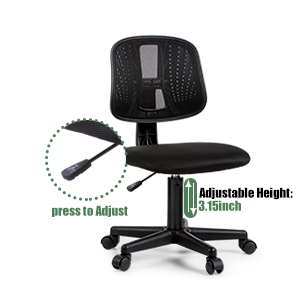 office chair - Novelland Ergonomic Adjustable Back Office Swivel Task Chair, Breathable Mesh Desk Chair With Lumbar Support Swivel Rolling Executive Adjustable Task Chair For Student Kids Study
