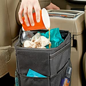leak proof car trash can by highroad