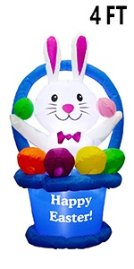 4 FT Inflatable Easter Decoration