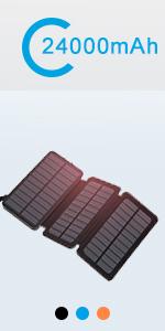 solar charger 24000 black