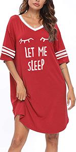 V neck oversized nightgown