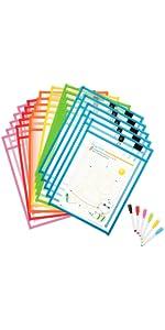 30 pack color magnetic dry erase sleeves dry erase pockets job ticket holders shop ticket holders