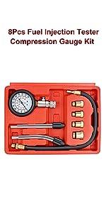 Engine Cylinder Diagnostic Compression Tester Set Automotive Tool Gauge