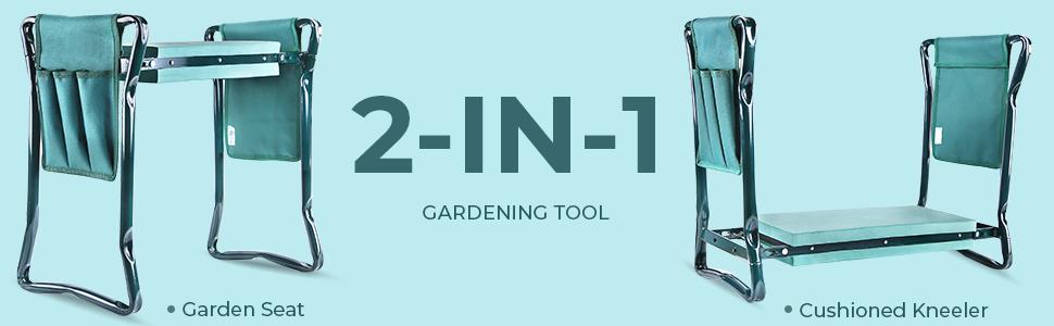 Garden Kneeler Seat Garden Bench Garden Stools Foldable Stool Foam Pad Outdoor Portable Kneeler