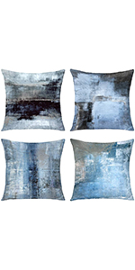 blue throw pillows blue grey throw pillow  pillow covers decorative pillows for living room18x18