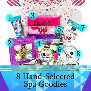 Hey It's Your Day Spa Bath Bomb Birthday Gift Basket Box For Her birthday gifts for women