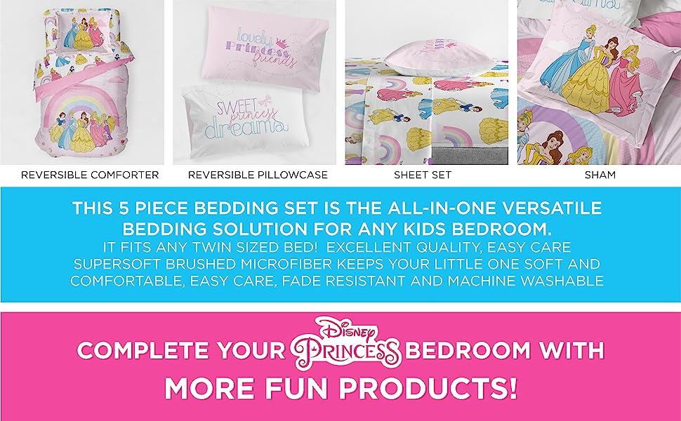 Princess, Bed Set, Sheet Set