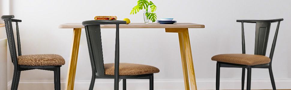 Koreyosh Industrial Leisure Dining Chair Set