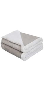 baby sherpa fleece blanket girls boys grey