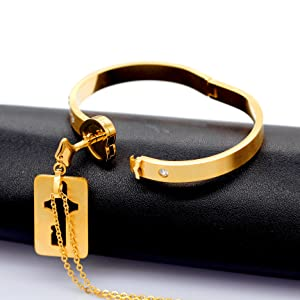 key necklace,lock bracelet,gold necklace for men.gold bracelet for women,heart bracelet necklace