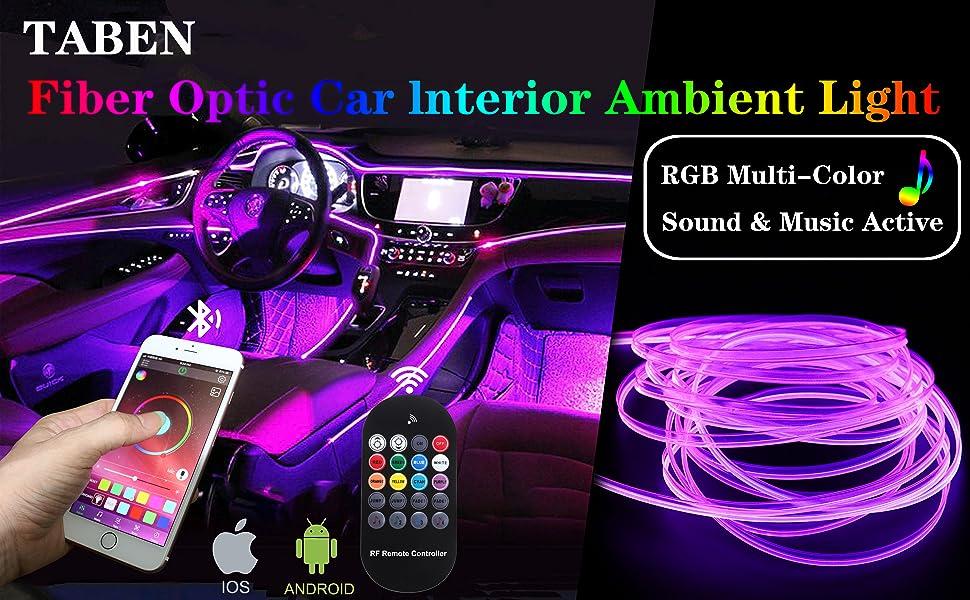 Fiber Optic Car Interior Ambient Light