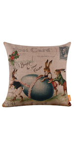 LINKWELL Farmhouse Easter Pillow Cover