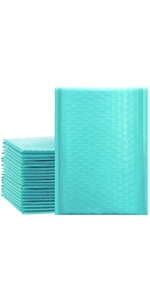 teal bubble mailers