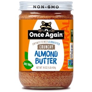 ONCE AGAIN natural almond butter