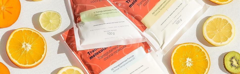 Bindly - Transglutaminasa RM - 100 gr - Para Reestructurar Alimentos - No Contiene OGM - Ideal para Carne o Pescado - Productos para Cocina Molecular ...