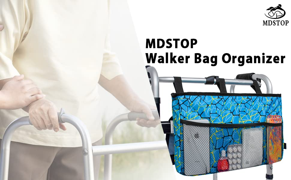 Walker Organizer with Classic Cars Walker Tote for Guys Walker Caddy
