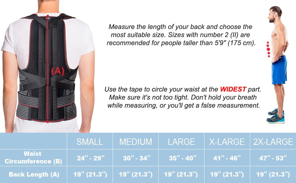back brace, posture corrector, scoliosis back race for men