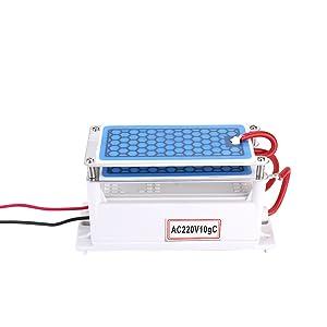 KKmoon 10g/h Generador de Cerámica Portátil del Ozono/Purificador ...