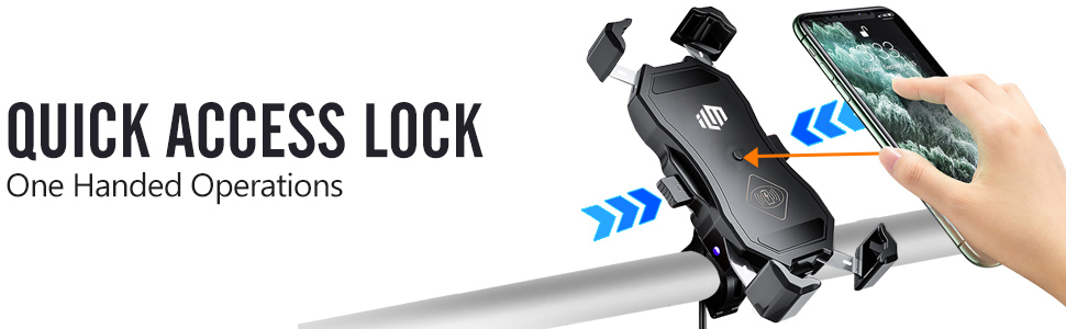 ILM Motorbike Phone Mounts Quick Access Lock One Handed Operations Firmly Hold Your Mobile Phones