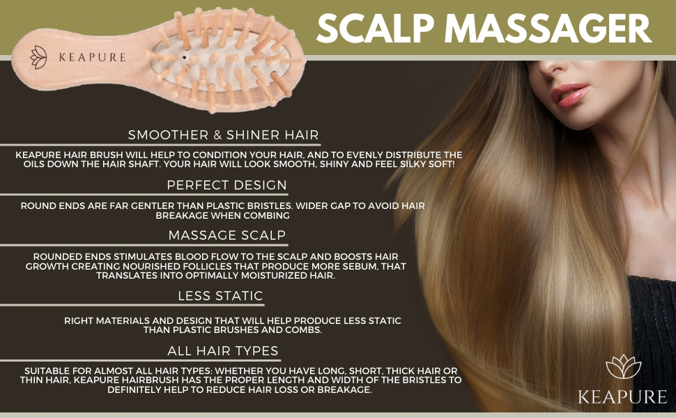 Scalp Massager Hair Brush stimulate blood flow regain hair