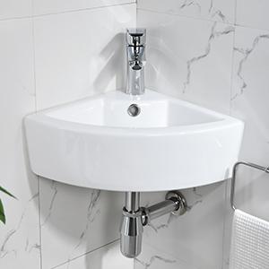 corner sink wall mount