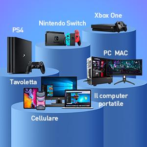 cuffie gaming pc