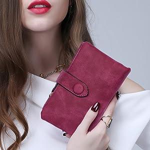 Frauen Brieftaschen Bauweise dreifach kleine Damentasche Geldbörse