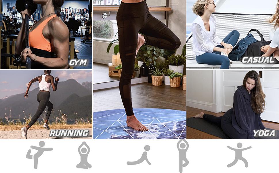 gym running casual yoga leggings
