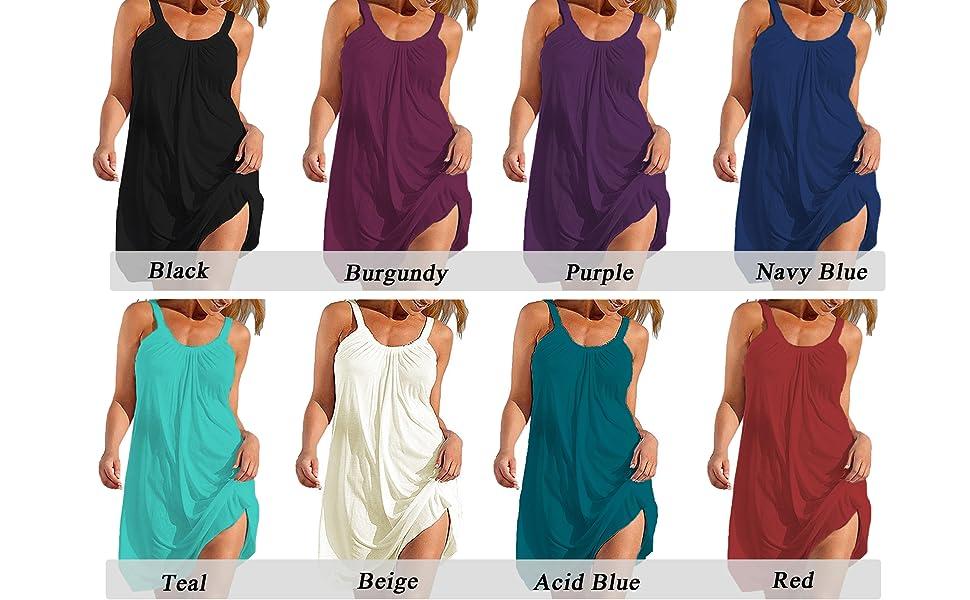 Dark Pink Women Halter Strap Dress Bikini Cover-Up Summer Swimwear Beach S-XL US