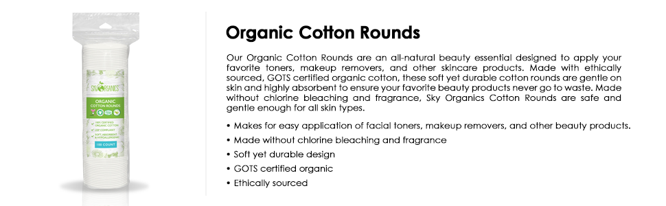 organic cotton rounds large pack cottons value deal gots nonbleach nonfragrance make up remover pad