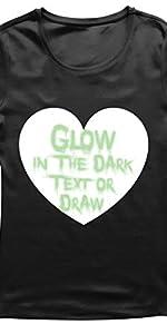 camiseta de mujer que brilla en la oscuridad