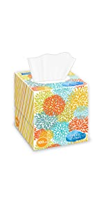 Cube box paper tissues for children and family