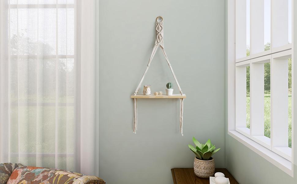 hanging beside the window