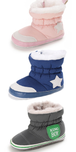 Baby Girls Infant Toddler Winter Fur Shoes Snow Booties