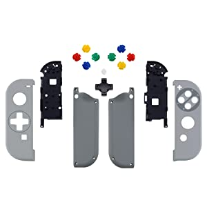 Classical Patterned Controller Housing Shell Case with Buttons & D-Pad for Nintendo Switch Joy-Con