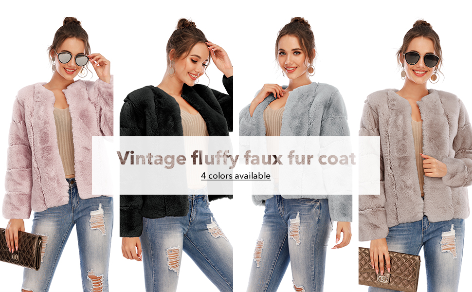 fuax fur coat for women