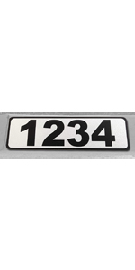 painting reflective mailbox curb stickers sign large metal wood white kit black alphabet