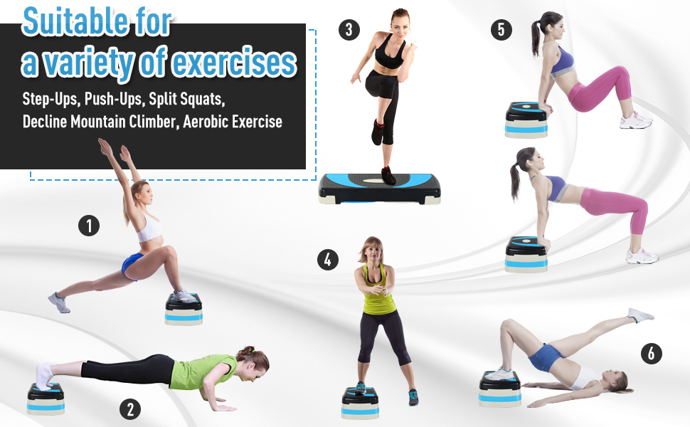 Aerobic Step Exercise step training workout stepper