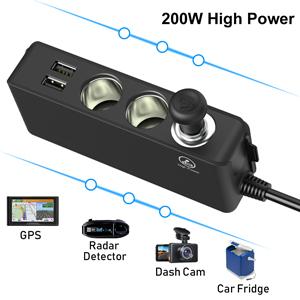 3 socket,200W High Power