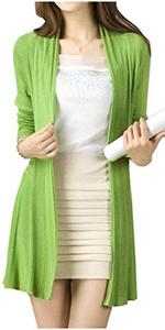 kimono cardigan green