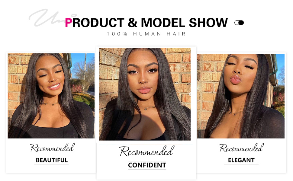straight lace front wigs human hair wigs for black women