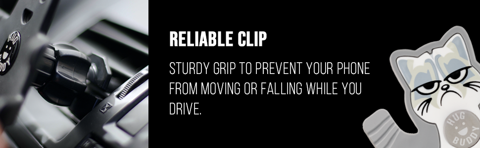 Stury grip that will secure your phone in place and prevent it from falling